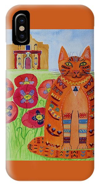 the Orange Alamo Cat IPhone Case