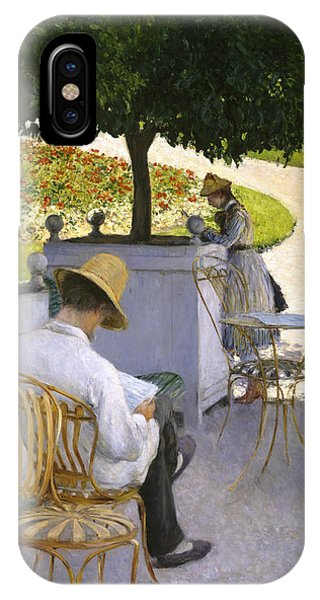French Painter iPhone Case - The Orange Trees by Gustave Caillebotte