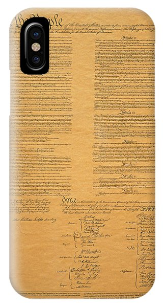 iPhone Case - The Original United States Constitution by Panoramic Images