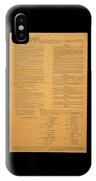 Horizontal iPhone Case - The Original United States Constitution by Panoramic Images
