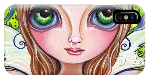 Fantasy iPhone Case - The Original wattle Fairy Painting by Jaz Higgins