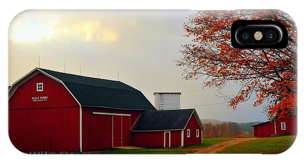 The Orignal Historic Eggle Farms Barn That Burned Down IPhone Case