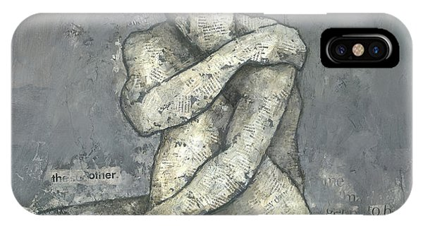 IPhone Case featuring the mixed media The Other by Steve Mitchell