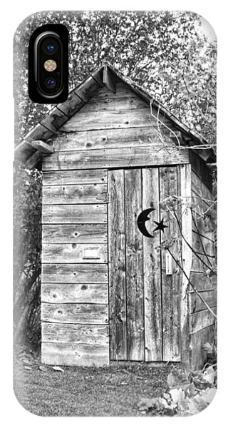 The Outhouse Bw IPhone Case