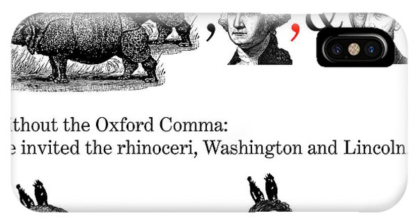 The Oxford Comma Phone Case by Eric Edelman