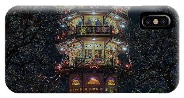 The Pagoda At Christmas IPhone Case
