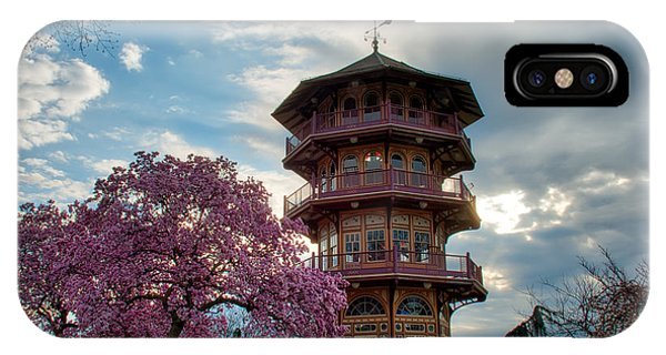 The Pagoda In Spring IPhone Case