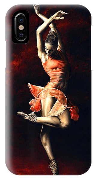Red iPhone X Case - The Passion Of Dance by Richard Young