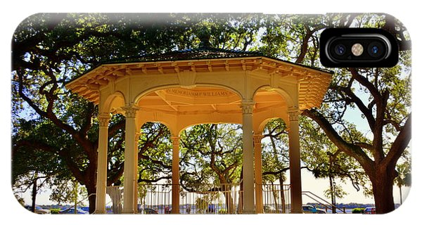 IPhone Case featuring the photograph The Pavilion At Battery Park Charleston Sc  by Lisa Wooten