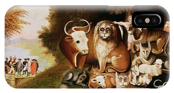 20th iPhone Case - The Peaceable Kingdom by Edward Hicks