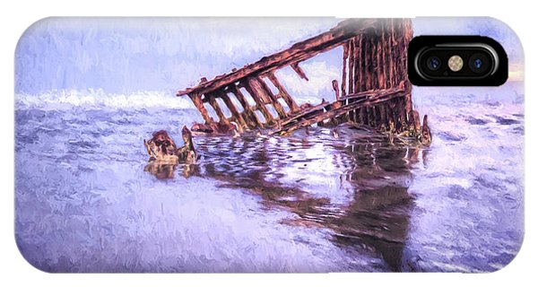 A Stormy Peter Iredale IPhone Case