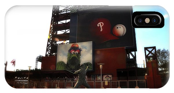 Philadelphia Phillies Stadium iPhone Case - The Phillies - Steve Carlton by Bill Cannon