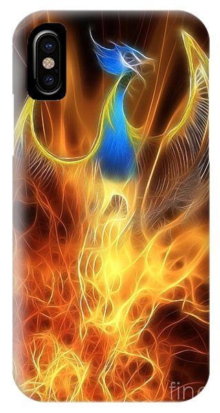 Dragon iPhone Case - The Phoenix Rises From The Ashes by John Edwards