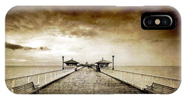 Pier iPhone Case - the pier at Llandudno by Meirion Matthias