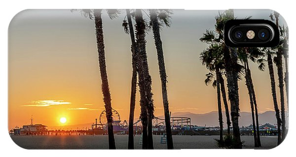 The Pier At Sunset - Square IPhone Case