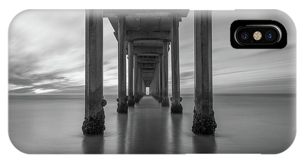 Scripps Pier iPhone Case - The Pier  Bw by Michael Ver Sprill