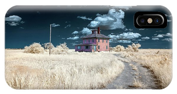 IPhone Case featuring the photograph The Pink House In Halespectrum 1 by Brian Hale