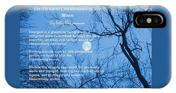 The Pleasant Countenance Of The Moon IPhone Case