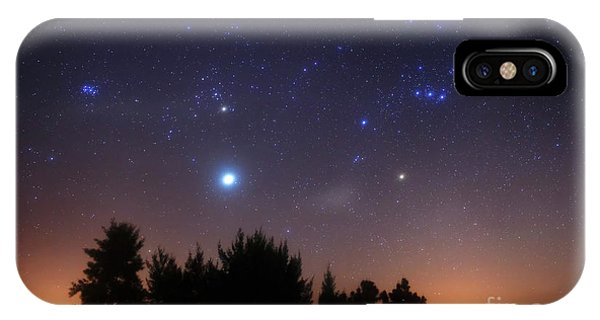IPhone Case featuring the photograph The Pleiades, Taurus And Orion by Luis Argerich