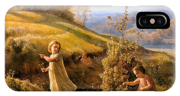 The Poem Of The Soul Spring Anne Francois Louis Janmot 1854. IPhone Case