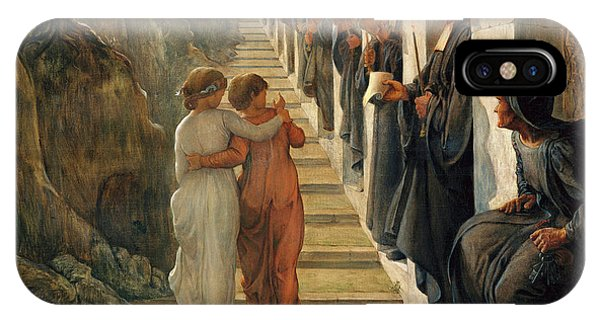Barren iPhone Case - The Poem Of The Soul - The Wrong Path by Louis Janmot