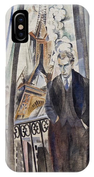 French Painter iPhone Case - The Poet Philippe Soupault by Robert Delaunay