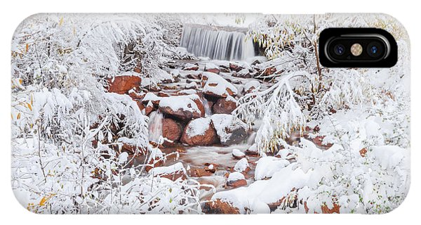 The Poetic Beauty Of Freshly Fallen Snow  IPhone Case