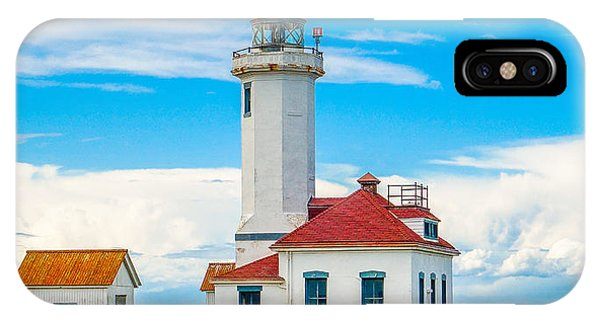 Port Townsend iPhone Case - The Point Wilson Lighthouse by Dan Sproul