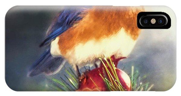 The Pondering Bluebird IPhone Case