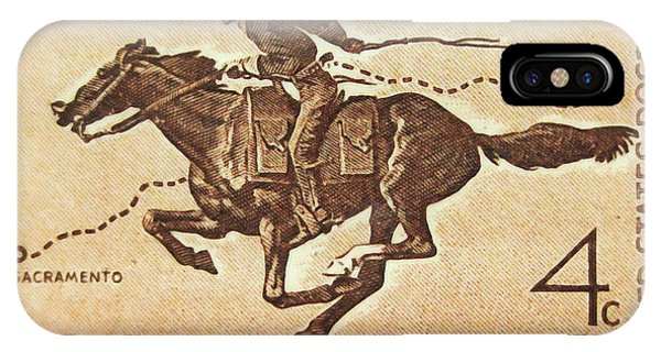 The Pony Express Centennial Stamp IPhone Case