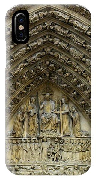The Portal Of The Last Judgement Of Notre Dame De Paris IPhone Case