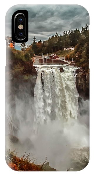 The Powerful Snoqualmie Falls IPhone Case