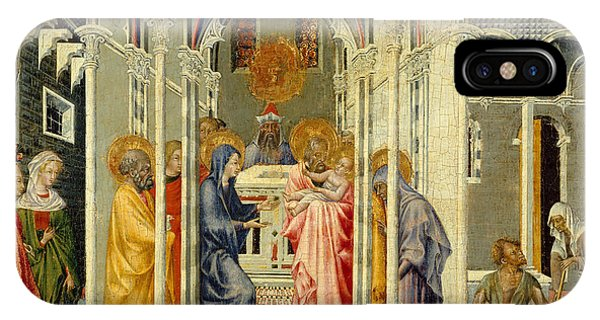 Mary Mother Of God iPhone Case - The Presentation Of Christ In The Temple by Giovanni di Paolo di Grazia