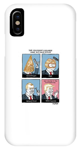 The President Explores Some Alt-hair Styles IPhone Case