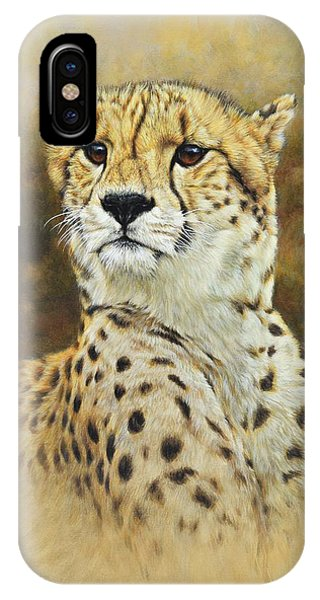 IPhone Case featuring the painting The Prince - Cheetah by Alan M Hunt