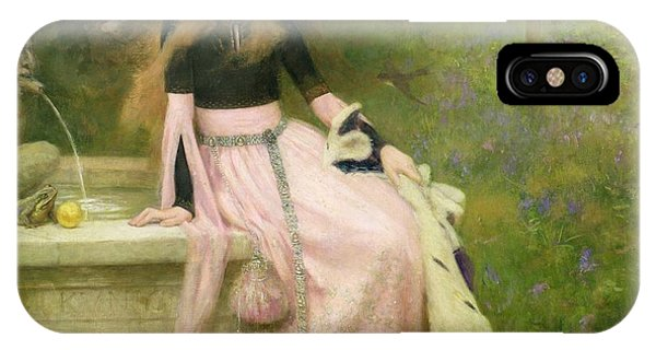 1851 iPhone X Case - The Princess And The Frog by William Robert Symonds