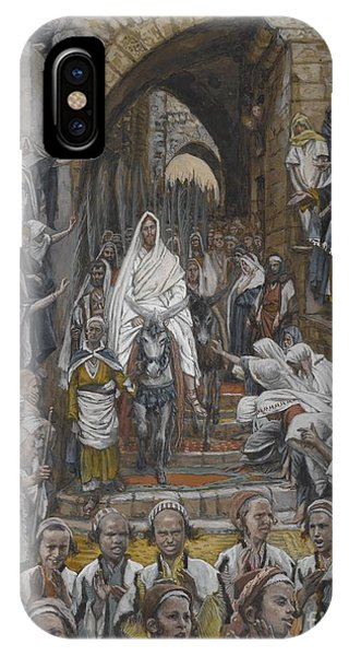 Life Of Christ iPhone Case - The Procession In The Streets Of Jerusalem by Tissot