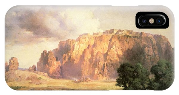 Mountainous iPhone Case - The Pueblo Of Acoma In New Mexico by Thomas Moran
