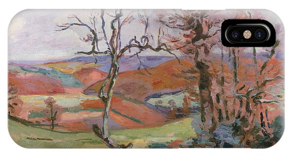 Barren iPhone Case - The Puy Barion At Crozant by Jean Baptiste Armand Guillaumin