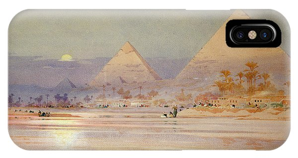Desert iPhone Case - The Pyramids At Dusk by Augustus Osborne Lamplough