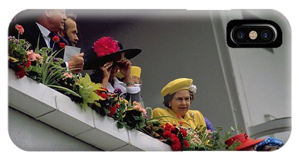 The Queen At Derby Day 1988 IPhone Case