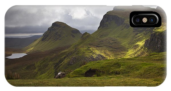 The Quiraing Isle Of Skye Scotland IPhone Case