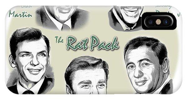 Las Vegas iPhone X Case - The Rat Pack by Greg Joens