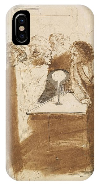 Raven iPhone Case - The Raven - Angel Footfalls by Dante Gabriel Rossetti