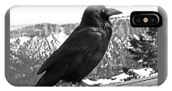 The Raven - Black And White IPhone Case