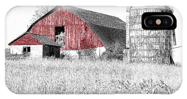 The Red Barn - Sketch 0004 IPhone Case