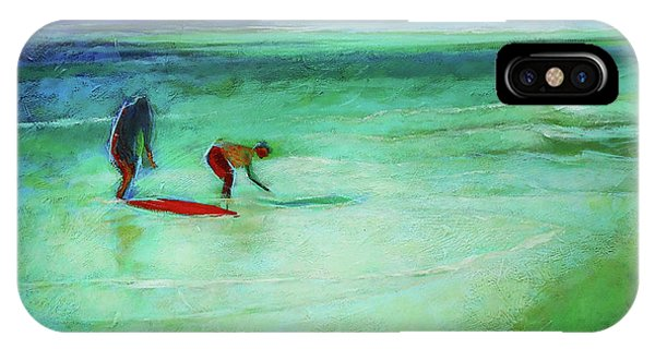IPhone Case featuring the painting The Red Boogey Board by Angela Treat Lyon