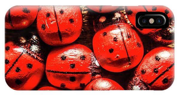 Ladybug iPhone Case - The Red Bug Out  by Jorgo Photography - Wall Art Gallery