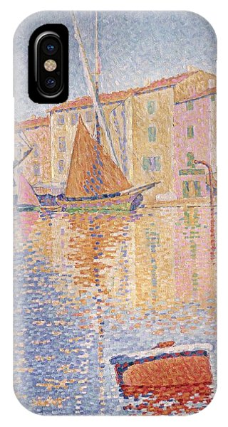 1895 iPhone Case - The Red Buoy by Paul Signac