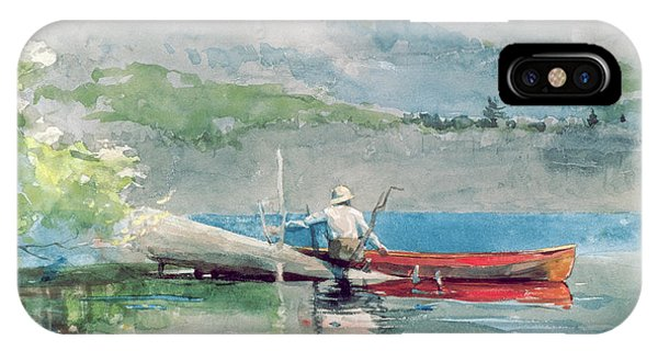 Homer iPhone Case - The Red Canoe by Winslow Homer